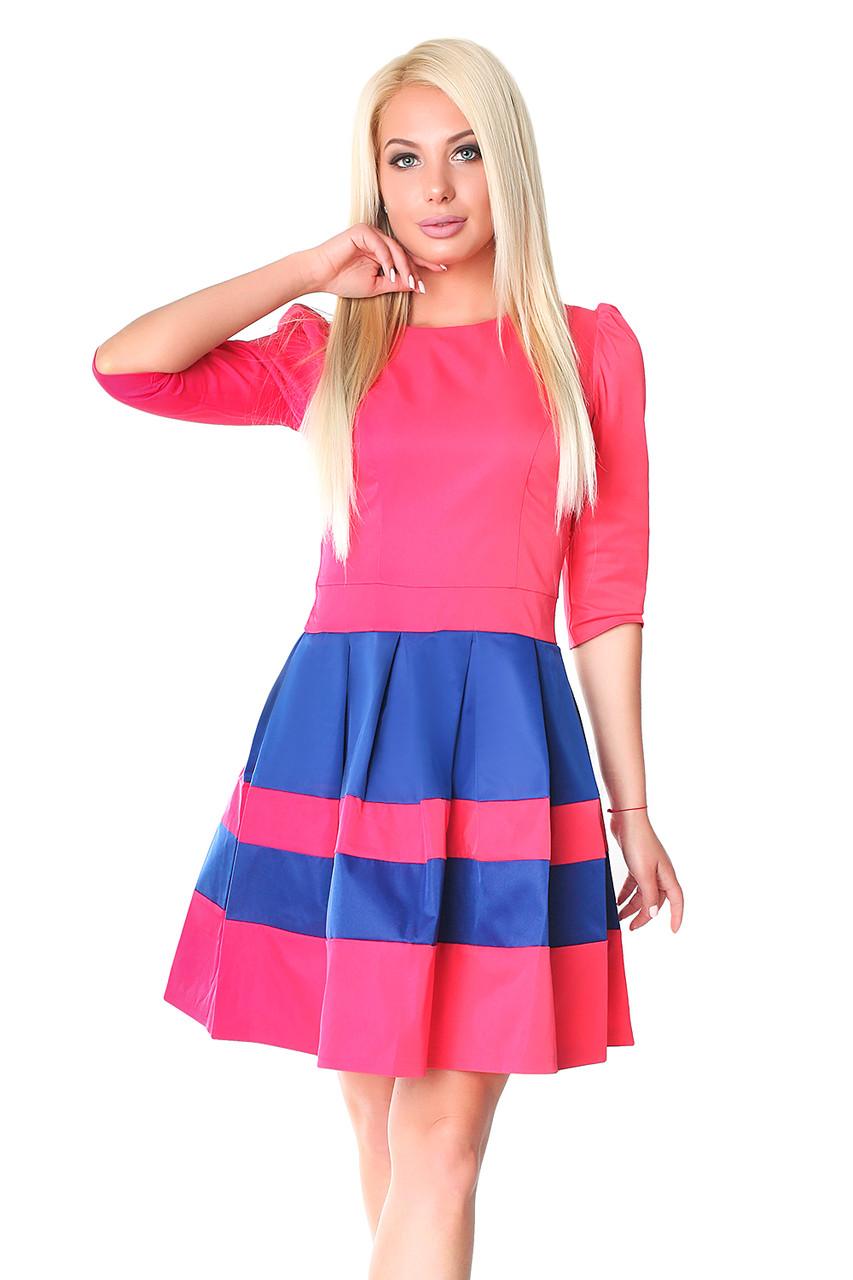 Молодежное яркое платье (в расцветках 40-44)
