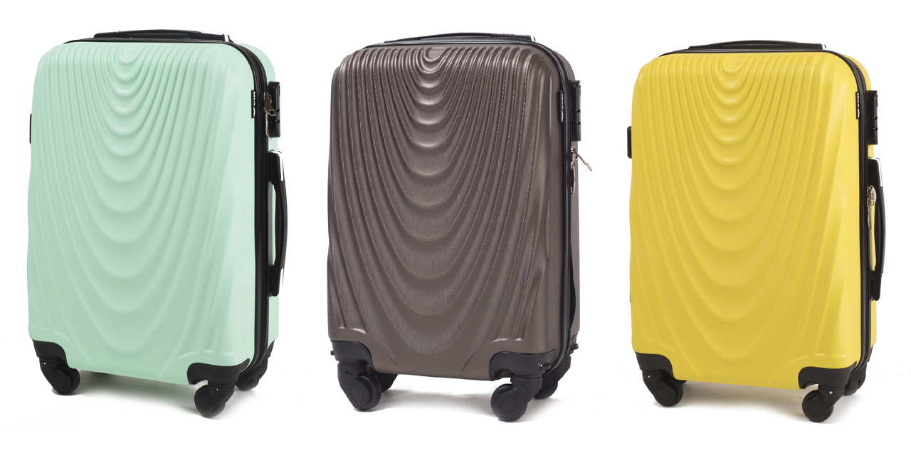 Дорожный чемодан на 4-х колесах WINGS 304 Поликарбонат Ручная кладь