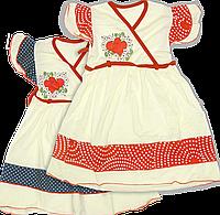 Детское летнее платье с поясом и принтом, хлопок (кулир-пинье), ТМ Ромашка, р. 80, 86, 92, 98, 104, Украина