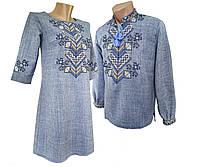 Платье женское вышитое Лен для Пары Вышиванка крестиком р.42 - 58