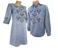 Женское платье вышиванка из льна для Пары р.42 - 58