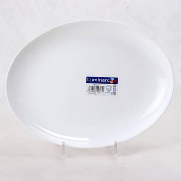 Блюдо овальне Luminarc Diwali White D7481 33см