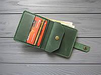 Маленький карманный кожаный кошелек Lana _зеленый