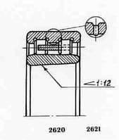 Подшипник  роликовый радиальный с короткими цилиндрическими роликами  5-4162938