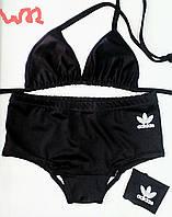 Женский (р.44-46)спортивный раздельный купальник ''адидас'' с шортиками (бифлекс)
