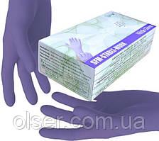 Нитриловые перчатки SFM STABLE WORK, неопудренные, темно-синие