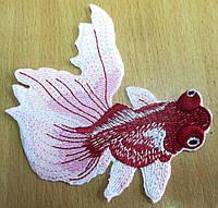 """Красивая  вышивка """"Золотая рыбка"""" бордовая от студии LadyStyle.Biz, фото 1"""