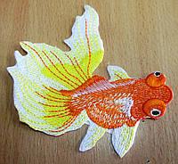 """Красивая  вышивка """"Золотая рыбка"""" оранжевая от студии LadyStyle.Biz, фото 1"""