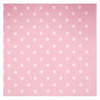 Салфетка Горошек розовый редкий