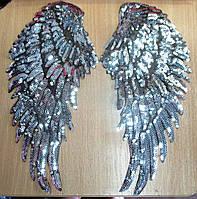 """Шикарная  нашивка """"Крылья Ангела"""" серебро  от студии LadyStyle.Biz, фото 1"""