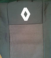 Чехлы на сиденья (budget) Renault Kangoo (Рено Кенго) (цельная спинка) с 1998-2008