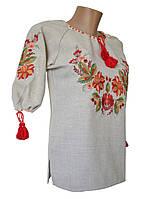 Женская Вышиванка рубашка Лен Поле  р.42 - 60