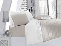 Постельное белье Cotton Box SATEN FASHION GRI евро- 4 наволочки