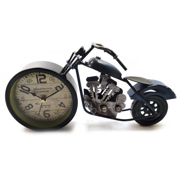 Сині настільні годинники Мотоцикл