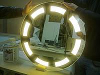 Зеркало со светодиодной подсветкой круглое