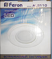 Светодиодная LED панель Feron AL2110 6W 480Lm 2700K
