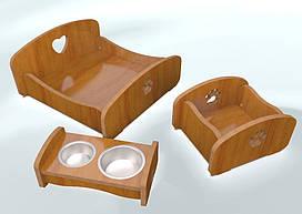 Комплект мебели для собак и кошек BePet-Сосна