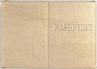 Обложка на загранпаспорт «Passport» цвет кремовый