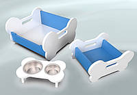 Комплект мебели для собак BePet Бело-голубой, фото 1