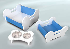 Комплект мебели для собак BePet Бело-голубой