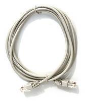 Патч-корд 1.5 м, UTP, Grey, литой, RJ45, кат.5е, витая пара, сетевой кабель для интернета