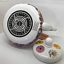 Эмалированный чайник Hoffner 4934 Field flowers 2,5 литра c керамической ручкой, фото 4