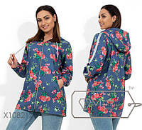 Ветровка женская из джинса,батал р.48,50,52,54,56 Фабрика Моды XL