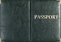 Обложка на загранпаспорт «Passport» цвет зеленый
