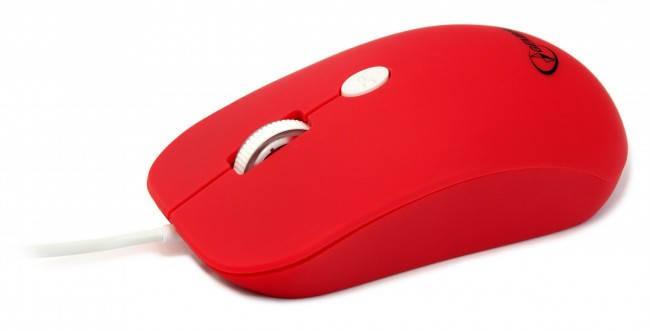 Мышь Gembird MUS-102-R, оптика, Red USB, мышка, фото 2