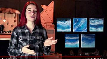 Мастер-класс от Foxy Studio - рисование картин смолой в ультрапопулярной технике РезинАрт
