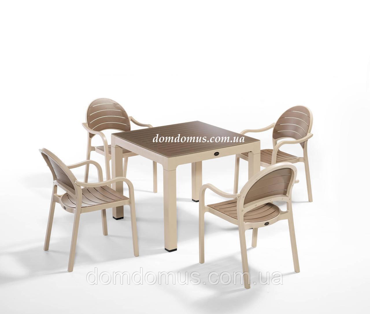 """Комплект высококачественной мебели """"Senza For 4""""   (стол 70*70, 4 кресла) Novussi, Турция"""