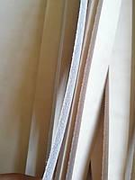 Кожаная ременная полоса,шнур . Бежевый цвет 4.2 мм толщиной без покрытия.