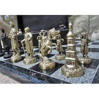 Набор шахмат, доска из мрaмора, фигурки бронзовые, фото 1