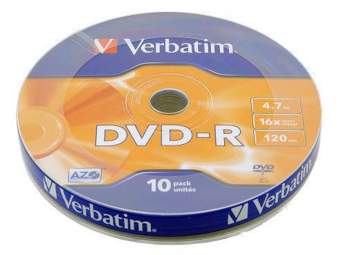 Диски DVD-R 10 шт. Verbatim, 4.7Gb, 16x, фото 2