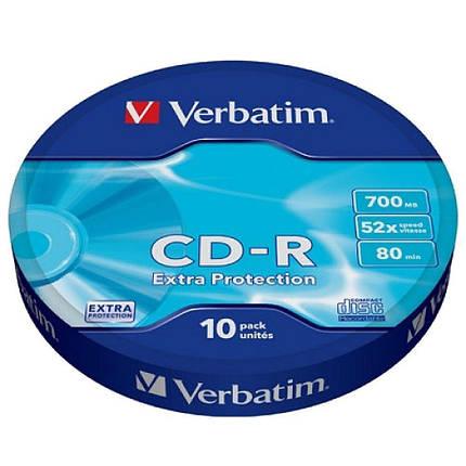 Диски CD-R 10 шт. Verbatim, 700Mb, 52x, Extra Protection, Shrink Box (43725), фото 2