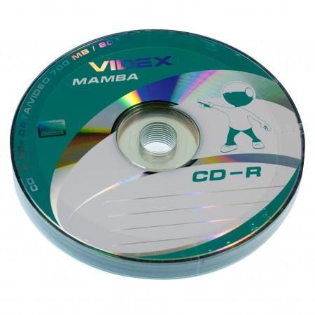 Диски CD-R 10 шт. Videx Mamba, 700Mb, 52x, Bulk Box