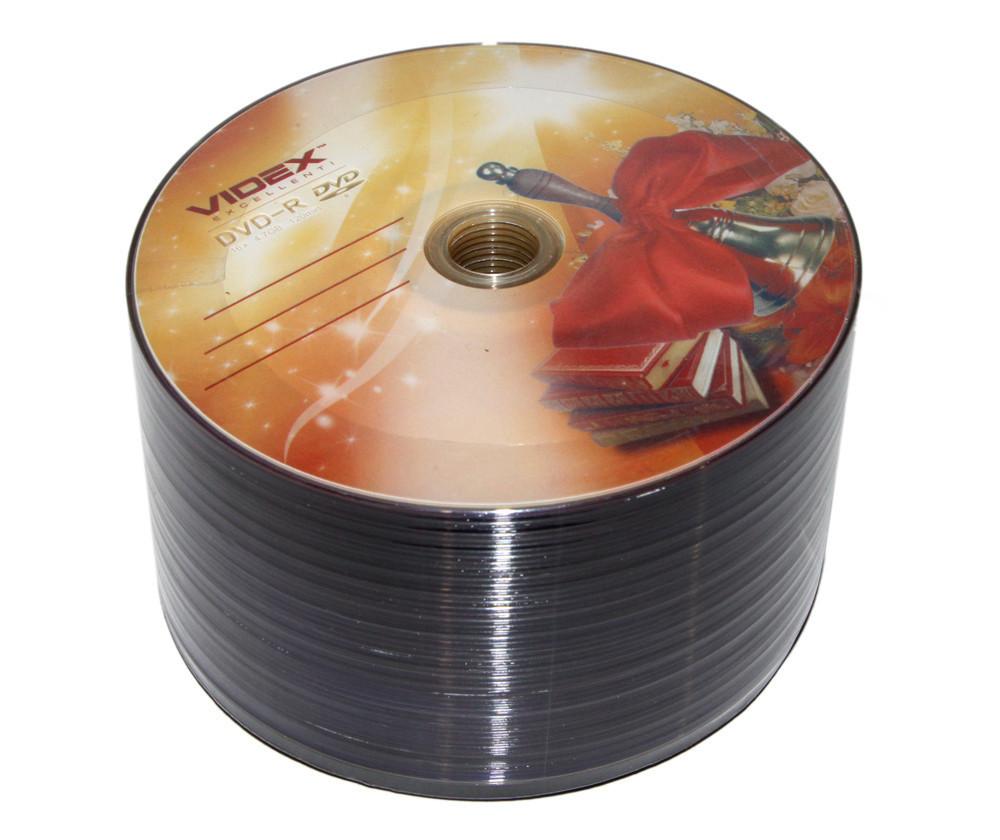 Диски DVD-R 50 шт. Videx 'Звонок', 4.7Gb, 16x, Bulk Box