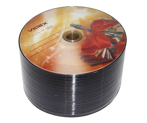 Диски DVD-R 50 шт. Videx 'Звонок', 4.7Gb, 16x, Bulk Box, фото 2