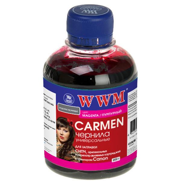 Чернила WWM Canon Universal CARMEN, CL-31/38/41/51/511/513, CLI-8M/36/426M/521M, Magenta, 200 г (CU/M), краска для принтера