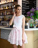 Шикарное платье Ткань органза 42,44,46  Цвет - голубой, розовый, фото 1