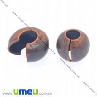 Бусина зажимная Кримп, 3 мм, Медь, 1 шт (BUS-012413)