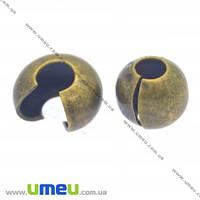 Бусина зажимная Кримп, 5 мм, Античная бронза, 1 шт (BUS-012408)