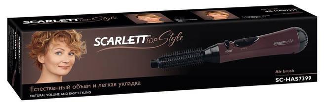 Фен-щетка Scarlett SC-HAS7399, 400 Вт, расческа, холодный/горячий воздух, компактный дорожный, фото 3