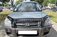 Дефлектор капота (мухобойка) Hyundai Tucson 2004-2015, фото 1