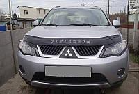 Дефлектор капота (мухобойка) Mitsubishi Outlander XL 2007-2010