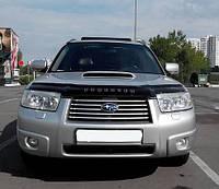 Дефлектор капота (мухобойка) Subaru Forester 2005-2008, фото 1
