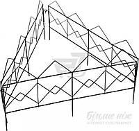 Декоративное ограждение для клумб Куб черный