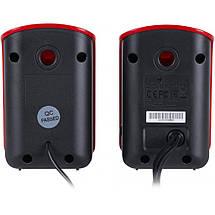 Колонки для комп'ютера 2.0 Genius SP-U115 Red USB, акустика, акустична система, фото 2