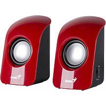 Колонки для комп'ютера 2.0 Genius SP-U115 Red USB, акустика, акустична система, фото 3