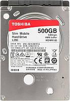 """Жесткий диск 2.5"""" 500 Гб/Gb Toshiba L200, SATA3, 8Mb, 5400 rpm (HDWK105UZSVA), винчестер hdd для ноутбука"""